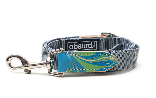 Nessie Blue and Green Dog Lead Leash