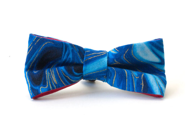 Fun blue patterned dickie bow for dogs
