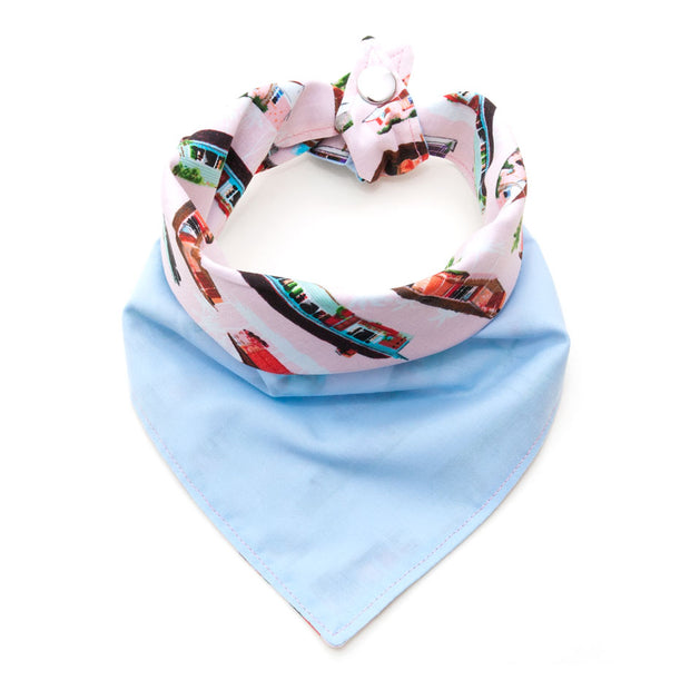 California Dreamin reversible bandana, pale blue side