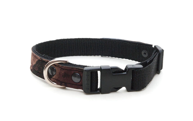 Mudslide upcycled neoprene collar with side release buckle