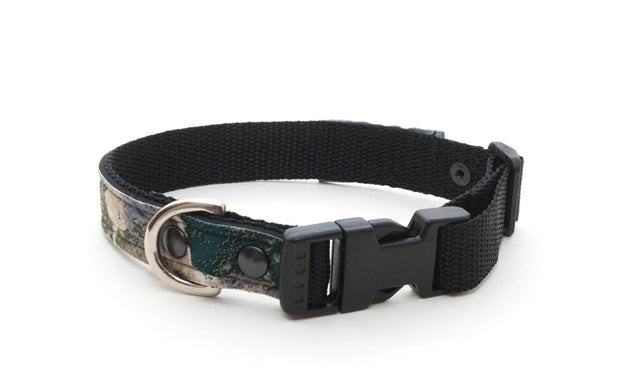 Wilderness upcycled neoprene collar with side release buckle