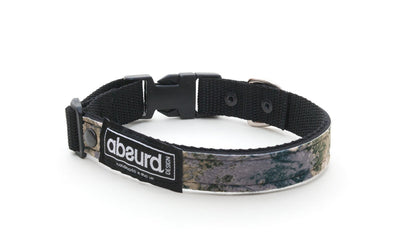 grey and green camo soft neoprene dog collar