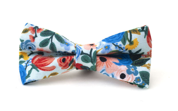 Cute floral Chelsea fabric dog bow