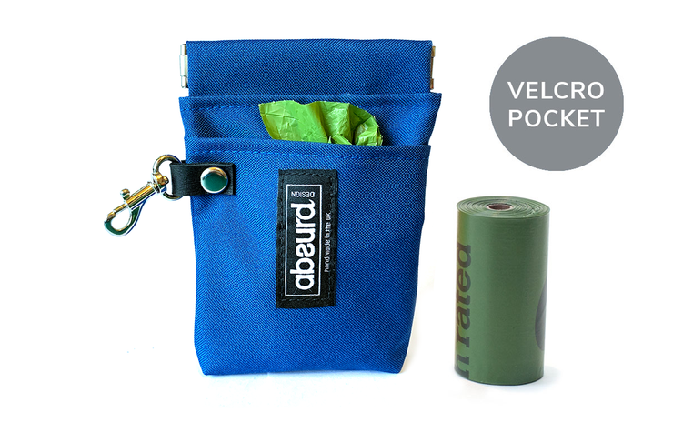 Poop Bag Holder & Treat Bag with Pocket : Cobalt