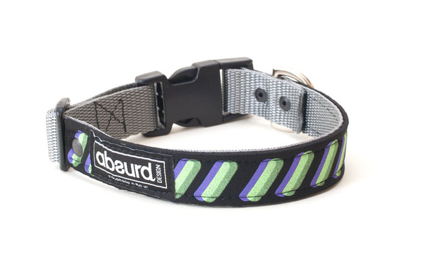 Waterproof dog collar made from upcycled neoprene