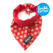 Gingerbread Christmas pattern of fabric dog bandana