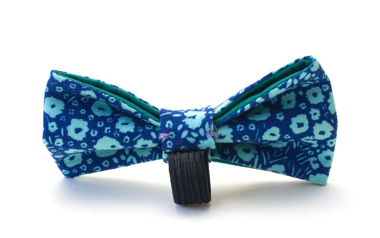 Meadow dog dickie bow showing elastic loop