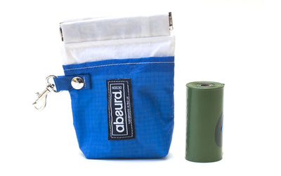 bright blue waterproof dog training treat bag and poop bag holder