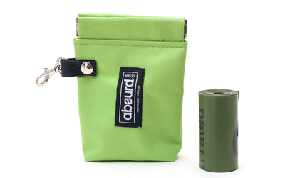 Dog Poop Bag Holder & Dog Treat Bag: Green