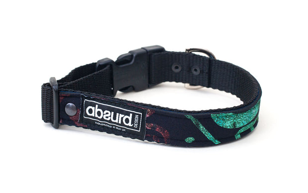 neoprene dog collar with funky multi coloured design