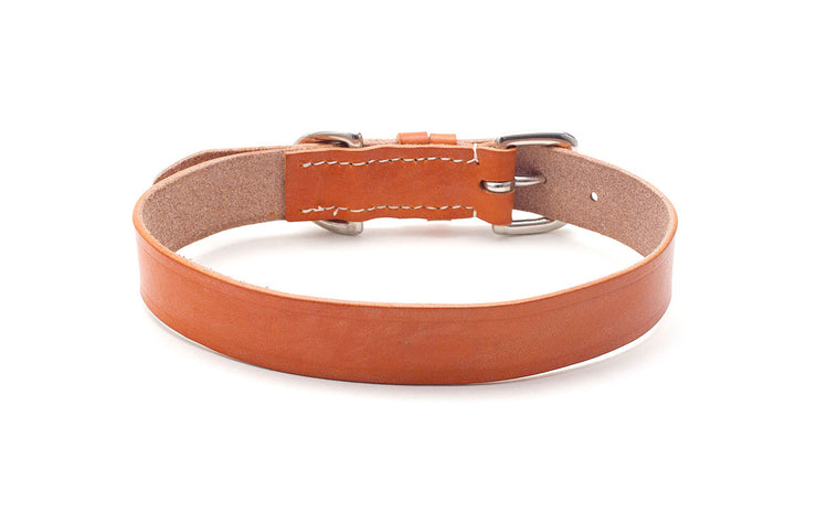 Oak Bark Tanned Leather Dog Collar