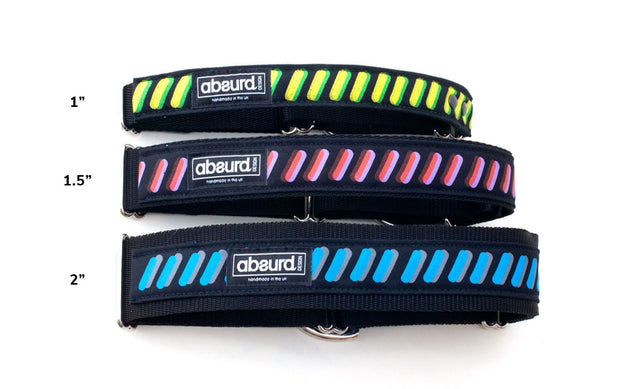 3 martingale collar sizes available 1 inch, 1.5 inch, 2 inch