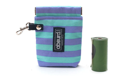 Dog Poop Bag Holder & Dog Treat Bag: Stripes
