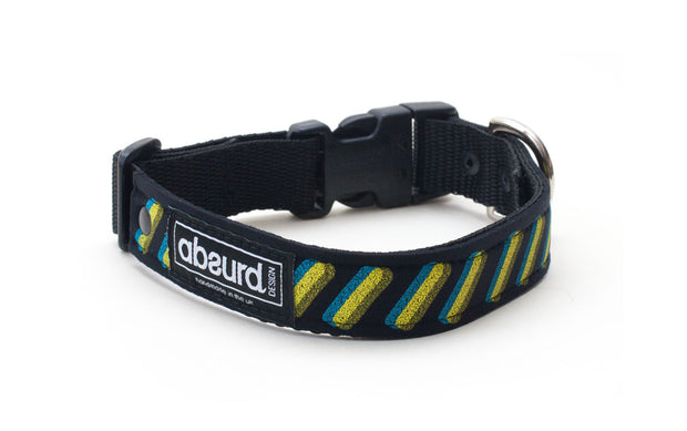 Screen printed colourful design on neoprene collar: Repeat