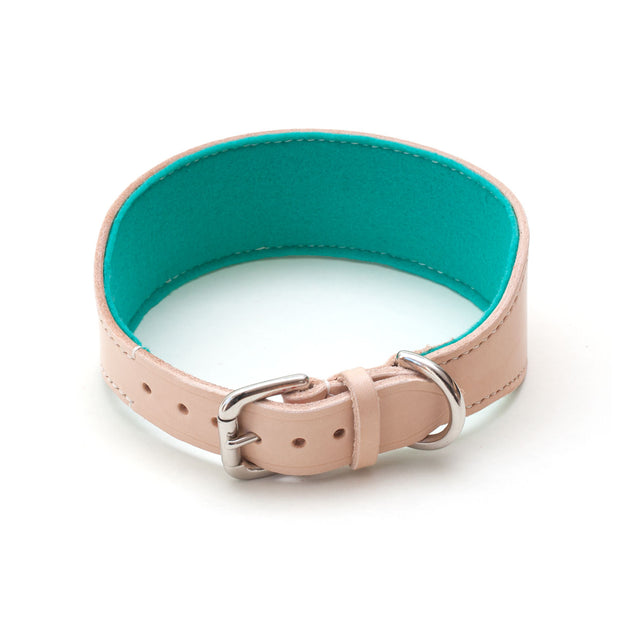 Colour by Numbers : Teal Felt Sighthound Collar