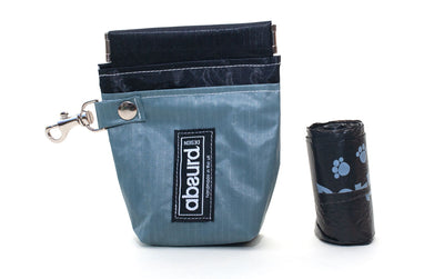 Stylish Grey Dog Poop Bag Dispenser & Dog Treat Bag