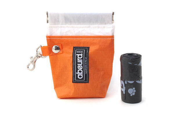 orange dog poop bag holder, single roll size