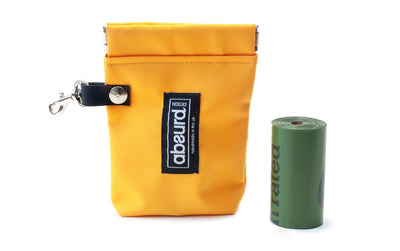 Dog Poop Bag Holder & Dog Treat Bag: Yellow
