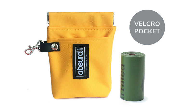 Poop Bag Holder & Treat Bag with Pocket : Yellow