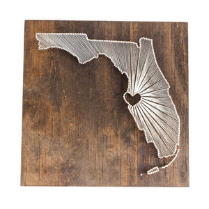 Open image in slideshow, Florida String Art