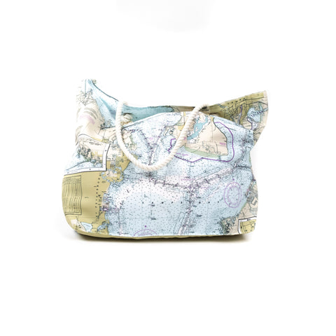 Nautical Chart Tote Bag