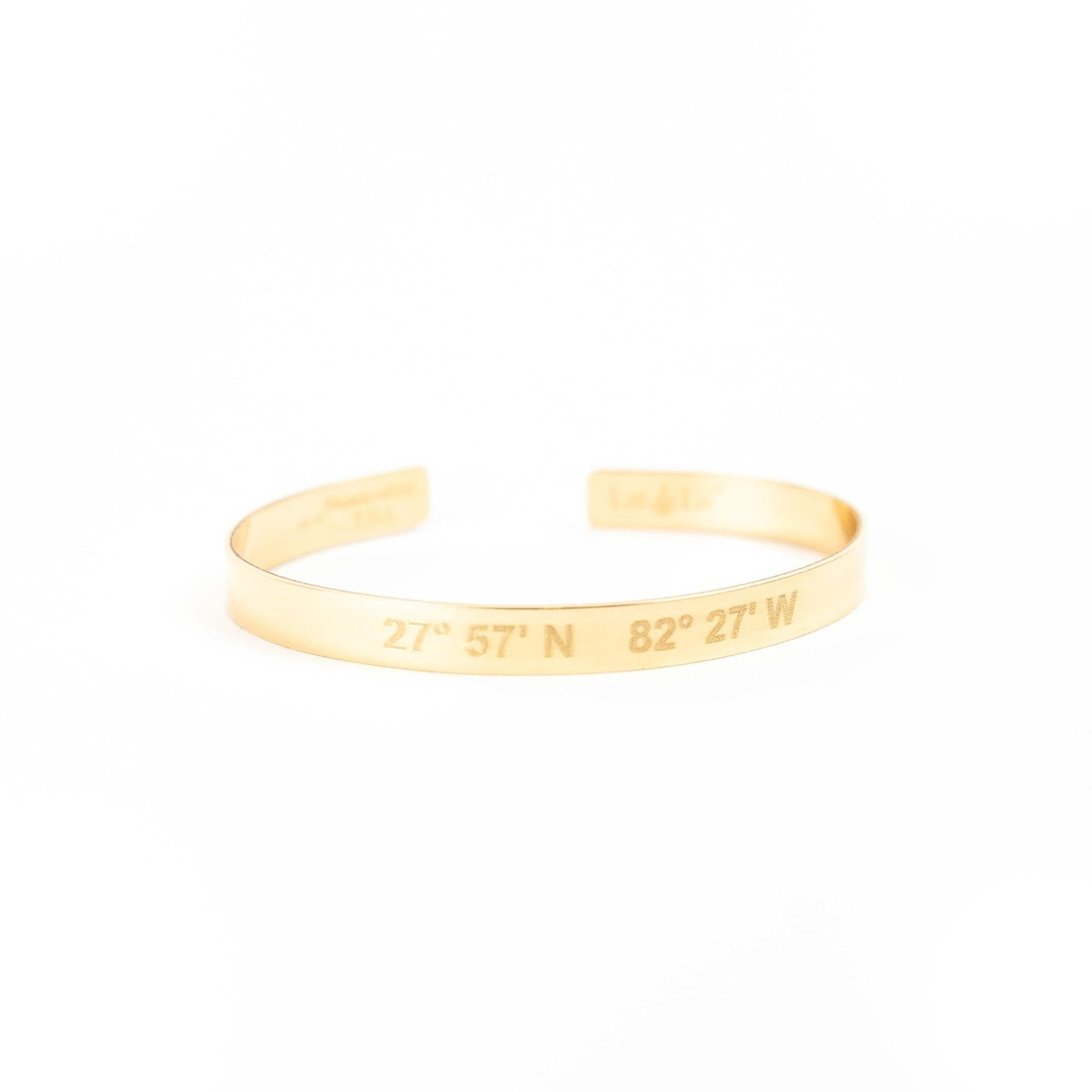 Lat & Lo Gold Bangle