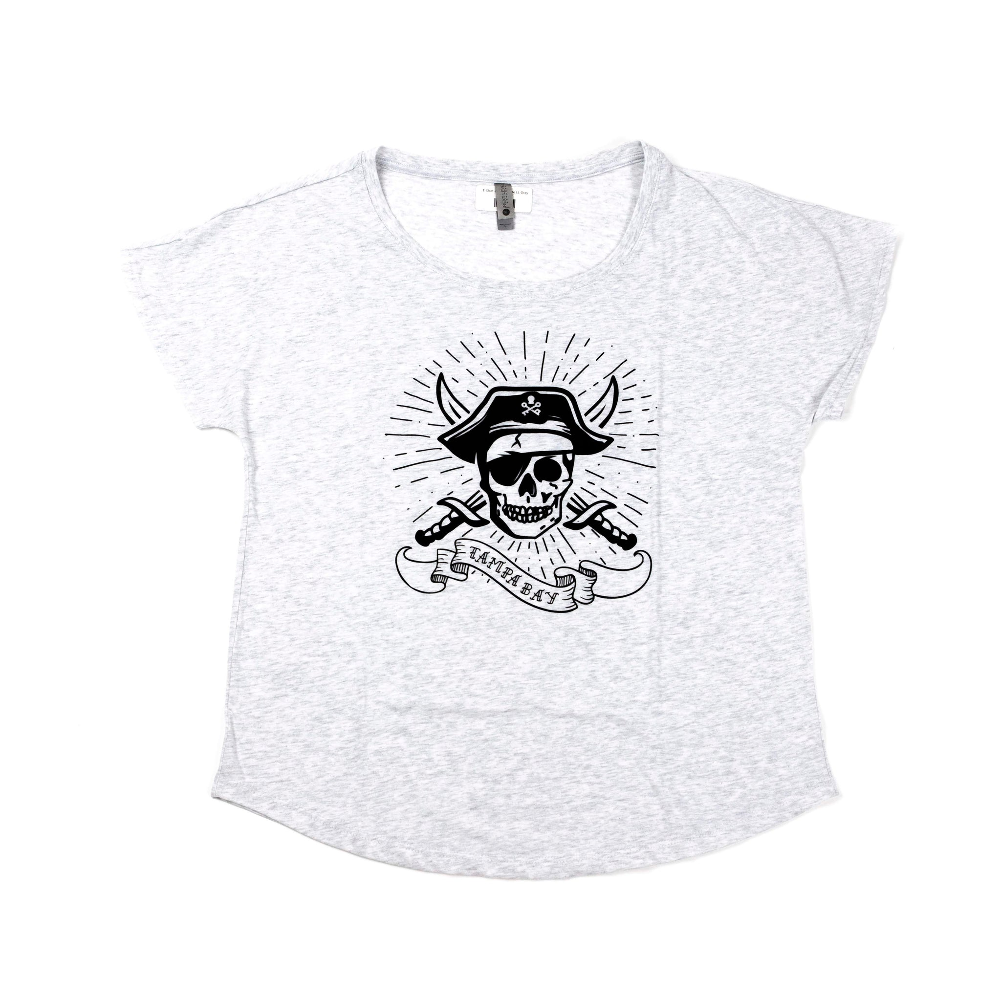 Ladies Pirate Tee - Light Grey