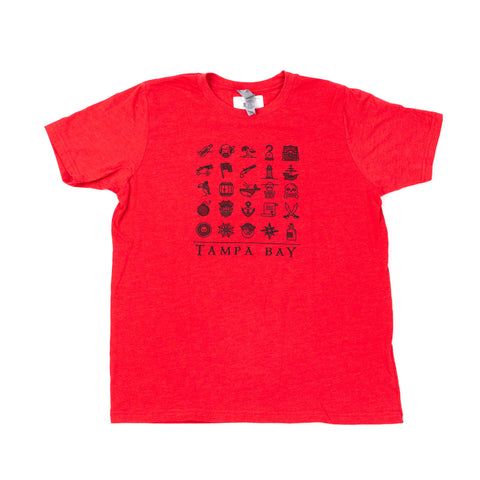 Pirate's Life Youth Tee - Red