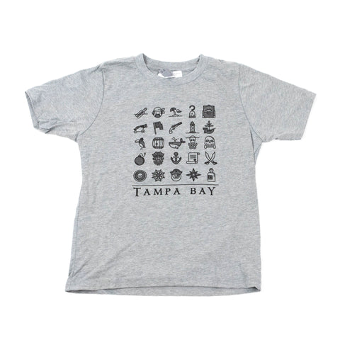 Pirate's Life Youth Tee - Grey
