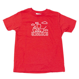 Pirate Ship Youth Tee - Red