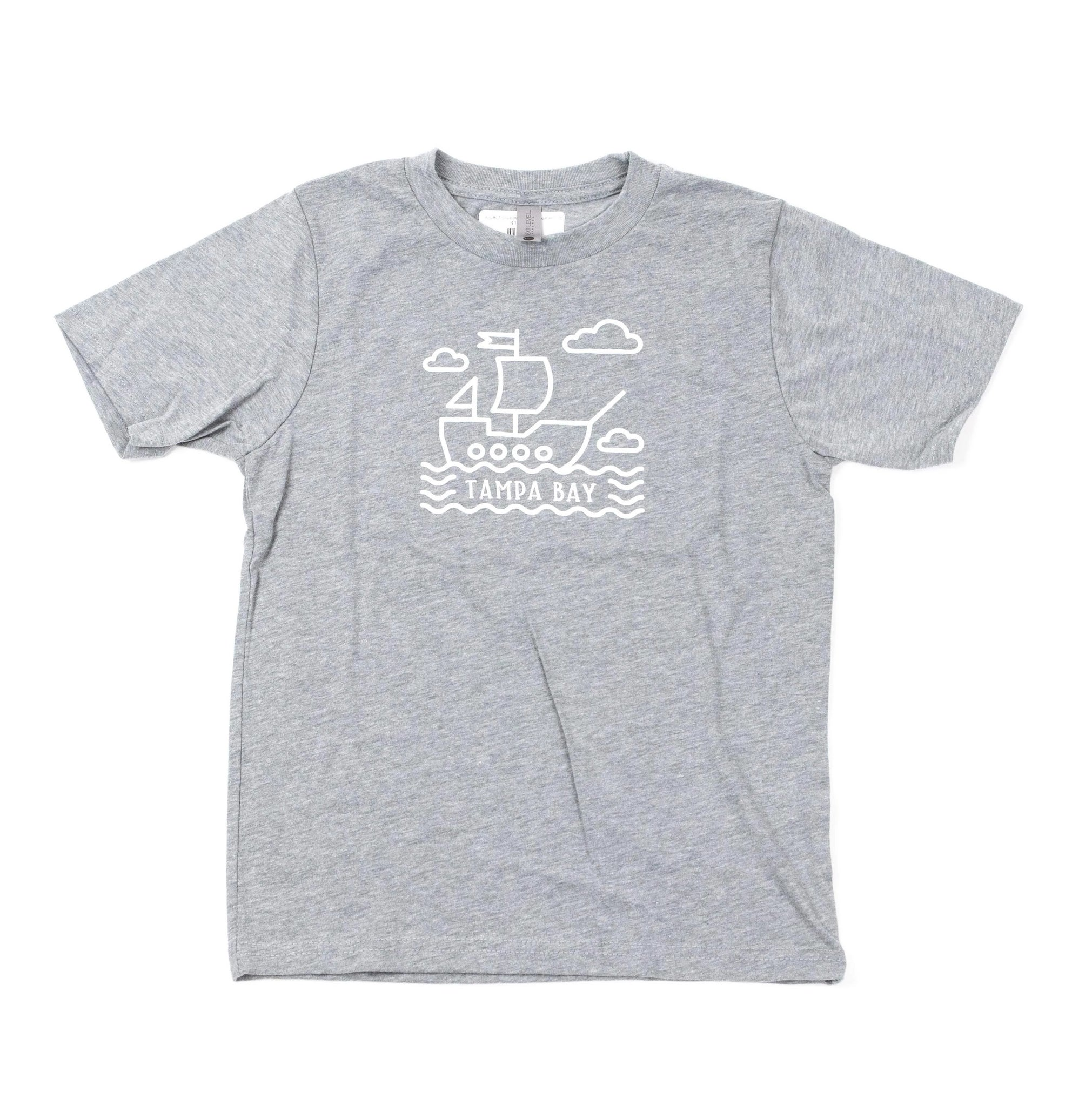 Pirate Ship Youth Tee - Grey