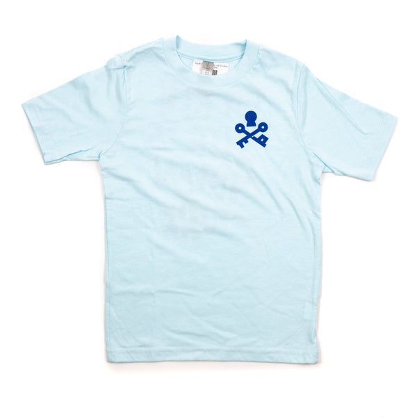Key To Life Youth Tee- Ice Blue