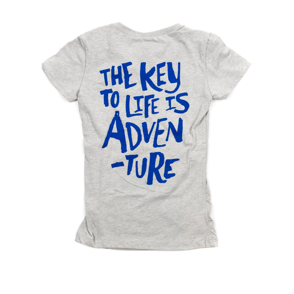 Key To Life V-Neck Youth - Gray