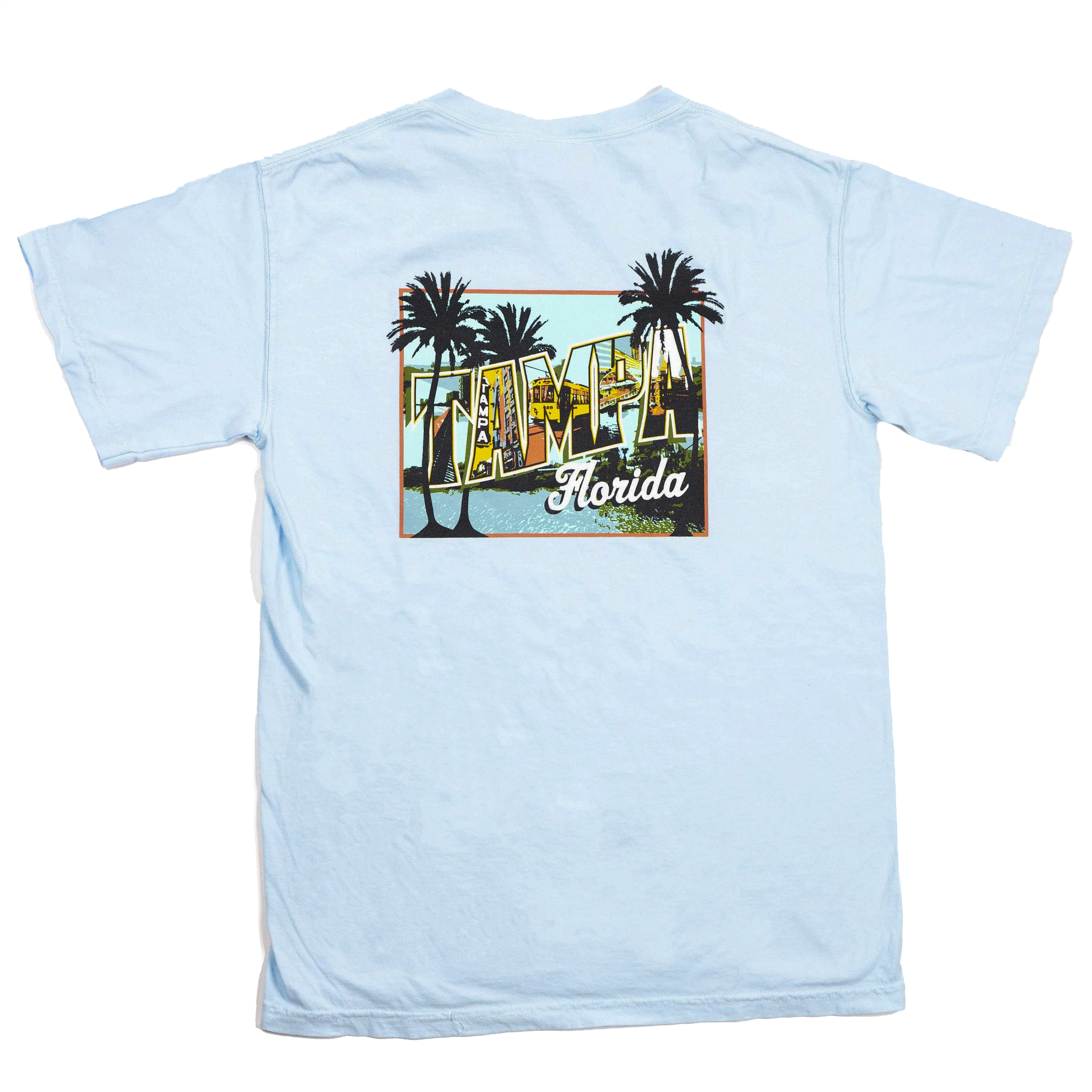 Mural T-Shirt - Light Blue