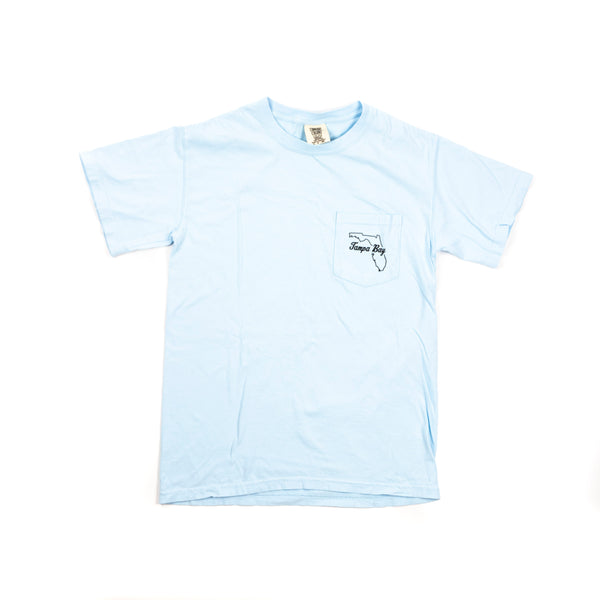 Tampa Mural T-Shirt - Light Blue