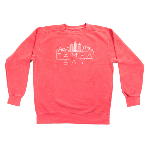Tampa Skyline Sweatshirt - Watermelon