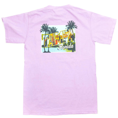 Tampa Mural T-Shirt Orchid
