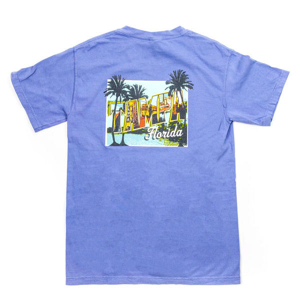 Tampa Mural T-Shirt Denim