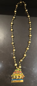 Gasparilla Handpainted Gold Ship Beads