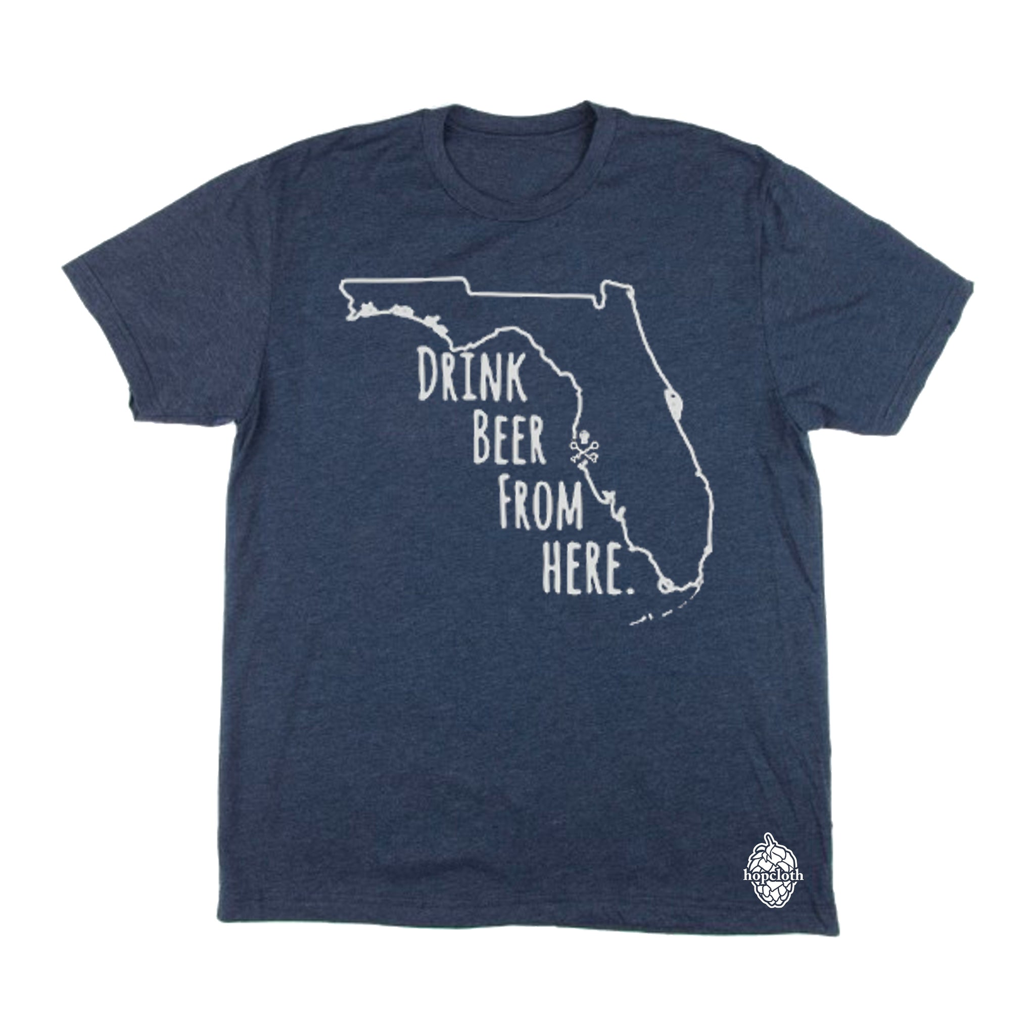 Drink Beer From Here - Navy