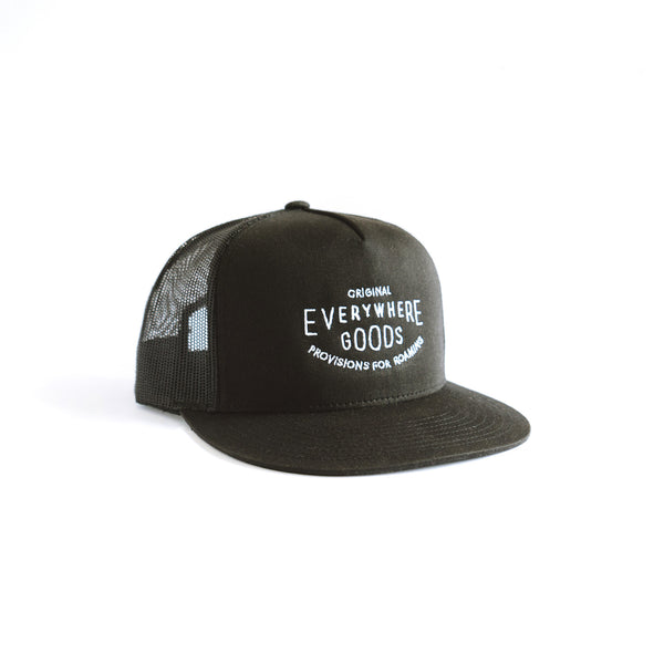 Everywhere Goods Stamp Trucker in Black