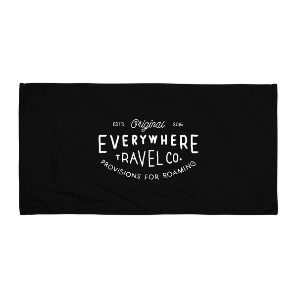 Everywhere Stamp Towel Black