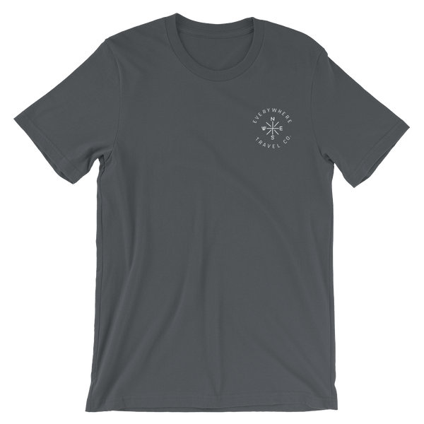 Everywhere Compass Tee Asphalt