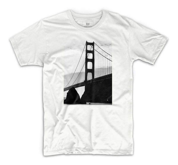 Golden Gate Shadows T-Shirt by David Ragusa