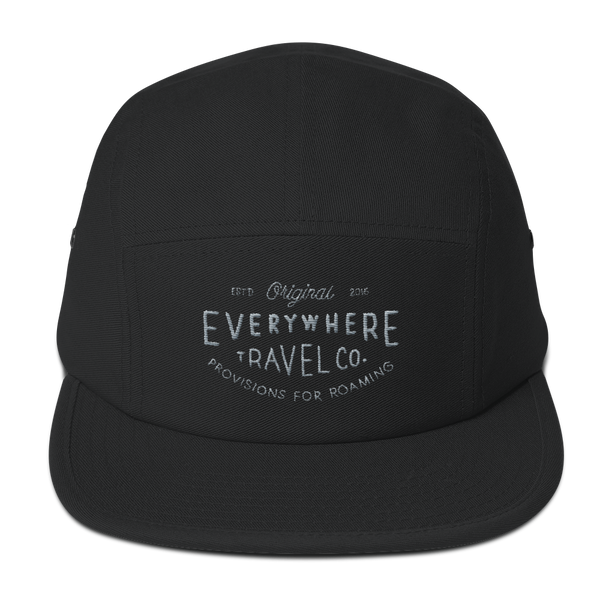 Everywhere Stamp Camper Cap Black