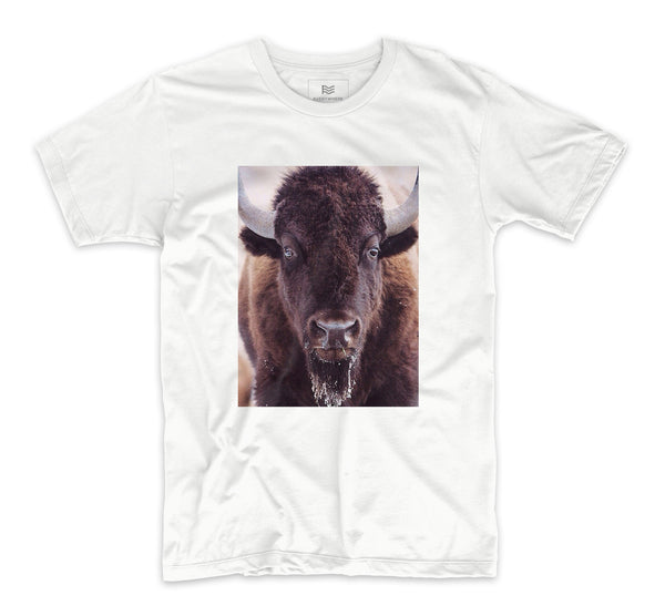 Yellowstone Buffalo Head T-Shirt by Chris Cauble