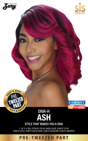 Zury Diva-H Ash Pretweezed Part Synthetic Lace Wig