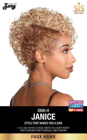 Zury Diva-H Janice Faux Hawk Synthetic Wig