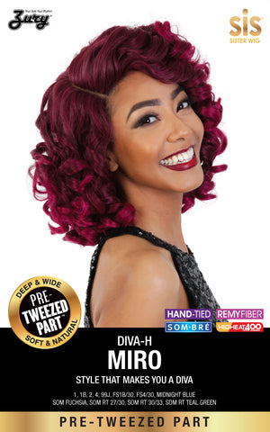 Zury Diva Miro Pre-tweezed Part Synthetic Lace Wig