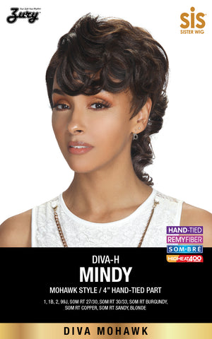 Zury Diva-H Mindy Pre-tweezed Part Synthetic Lace Wig